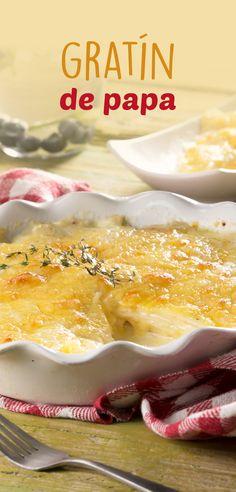 Este gratín de papas es perfecto acompañante para carnes. Muy fácil de hacer y será la sensación en la cena de navidad, ya que su rico sabor a crema, queso y ajo es irresistible. ¡Préparalas!