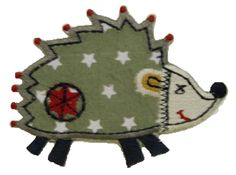 TrickyBoo iron Ons Hedgehog Field Animal Iron on Patches Applique Embroidered Cotton