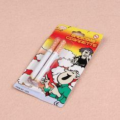 Joke Prank Magic Novelty Trick 2 pcs Fake Cigarettes Fags Smoke Effect Lit End Fancy Gift For Sale Funny Toy Practical Jokes