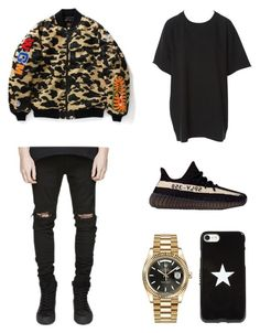 """""""Street Style"""" by annisanfadhilla on Polyvore featuring A BATHING APE, Givenchy, adidas, Rolex, men's fashion and menswear"""