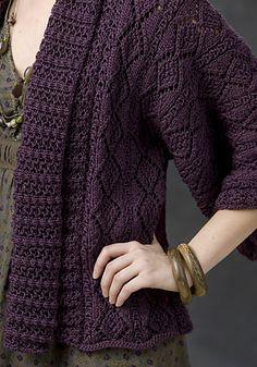 Xian Knit Kimono Jacket pattern by Margret Willson. Free.