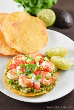 Shrimp Avocado Tostadas Inspiration Kitchen is part of Mexican food recipes - These Shrimp Avocado Tostadas are light, refreshing and simple to make They come together easily for a great healthy weeknight meal!