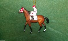 BREYER RACE HORSE CHRISTMAS ORNAMENT - GALLANT FOX - KENTUCKY DERBY- NIB