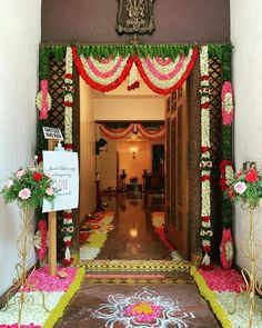 Birthday Room Decorations, Diwali Decorations At Home, Banquet Decorations, Wedding Stage Decorations, Festival Decorations, Flower Decorations, Housewarming Decorations, Flower Garland Wedding, Baby Shower Deco
