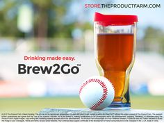 "The Brew2Go™ allows you to enjoy your favorite brew anywhere - with less spillage and no shattered glass! Additionally, your beer will stay cool for twice as long due to it's insulated dual chamber design. Apply coupon code ""BREW4DAD"" for a 15% discount valid through Father's Day! -http://store.theproductfarm.com/"