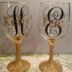 Personalized Wine Glasses... - monamittee candles | Scott's Marketplace