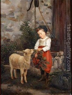 Camille-Leopold Cabaillot-Lasalle:The Pet Lamb, 1877