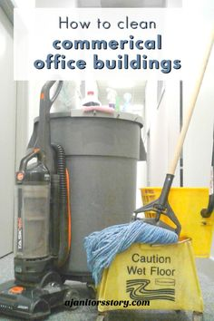 An easy, step-by-step action plan to clean commercial office building accounts with your janitorial cleaning service business. #ajanitorsstory Cleaning Companies, House Cleaning Services, Cleaning Business, Deep Cleaning, Cleaning Hacks, Janitorial Cleaning Services, Professional Cleaning Services, Wet Floor, Wall Carpet