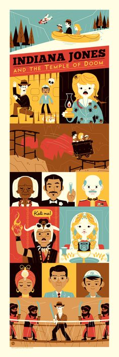 INDIANA JONES AND THE TEMPLE OF DOOM Poster Art by Dave Perillo #movies #illustration #color