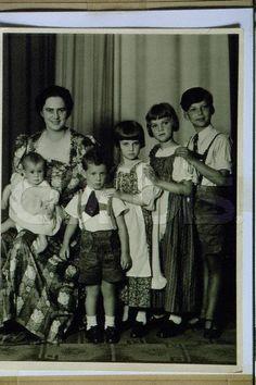Ileana, Archduchess of Austria and her children Stefan, Maria, Alexandra, Dominic and baby Maria in Queen Victoria Descendants, Princess Victoria, Austria, Von Hohenzollern, Romanian Royal Family, Victorian Life, Little Paris, Princess Alexandra, Young Prince