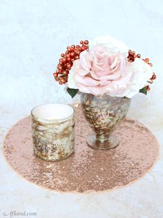 Rose Gold Wedding Ce