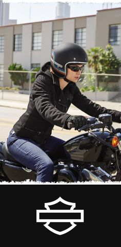 A natural for a day in the saddle. | Harley-Davidson Women's Reinforced Slim Fit Riding Hoodie