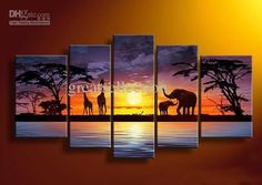 Gallery For > Canvas Paintings Sunset