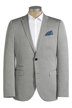 Light Grey Cotton Slim Fit Suit Groomswear Suit Ideas   Wedding Suits For A Groom