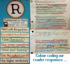 Runde's Room: Building Better Reading Responses - color coding our reading responses