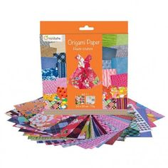 Papier origami Haute-Couture AVENUE MANDARINE 60 feuilles : Chez Rentreediscount Loisirs créatifs Stickers, Origami Paper, Paper Flowers, Pattern Print, Small Animals, Creative Art, Leaves, Creative Crafts, Characters