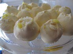 Lemon Shortbread Truffles @Purple Chocolat Home: Desserts