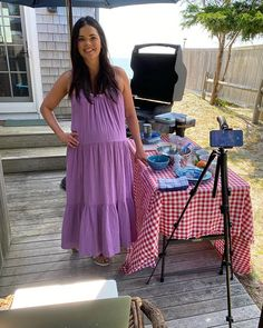 Katie Lee (@katieleekitchen) • Instagram photos and videos Katie Lee, Dress Cuts, Purple Dress, Tank Dress, Two By Two, Stylists, Summer Dresses, Beauty, Videos
