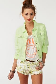Neon Denim Jacket. Nasty Gal obsessed