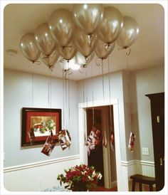 Balloon chandelier with pictures