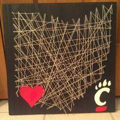 Cincinnati Bearcats String Art by Trash2Treasure83 on Etsy, $45.00