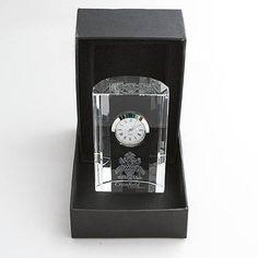 Cranfield University Crystal Scalloped Clock