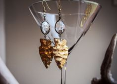 Gold Arrowheads by GJewelryCreations on Etsy
