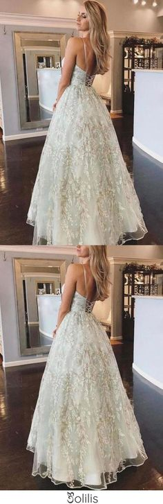 Spaghetti Straps Lace Appliques Beach Wedding Dresses with Lace up Wedding Gowns W1078, This dress could be custom made, there are no extra cost to do custom size and color Split Prom Dresses, Prom Dresses Online, Long Bridesmaid Dresses, Cheap Dresses, Homecoming Dresses, Bridal Dresses, Wedding Gowns, Hoco Dresses, Chic Wedding