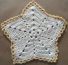 Ravelry: Christmas Star Dishcloth pattern by Maggie Weldon