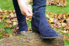 f5075fe20aa8 Tuesday Shoesday – Blue suede boots for autumn
