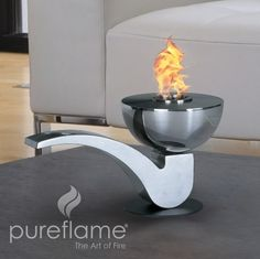 Pureflame Pipe Table-Top Bio-Ethanol Fireplace – Home Alley