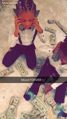 Cute Kids, Cute Babies, Baby Kids, Money On My Mind, Money Pictures, Money Stacks, Squad Goals, Family Goals, Mood Pics