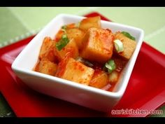 Korean Food: Radish Kimchi (깍두기)