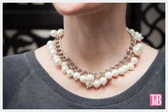 DIY Necklace  : DIY Large Chain and Pearl Necklace