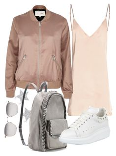 """""""Untitled #22279"""" by florencia95 ❤ liked on Polyvore featuring Linda Farrow, Diamond Star, River Island, STELLA McCARTNEY and Alexander McQueen"""