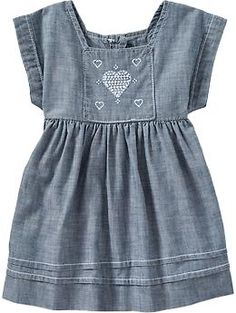 ON chambray- KR needs this to wear with her cowboy boots!