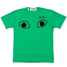 COMME DES GARCONS PLAY MEN'S EYES TEE (GREEN / BLACK) $110