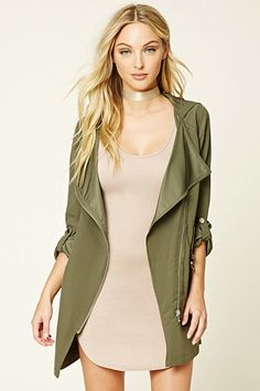 Hooded Utility Jacket | Forever 21 - 2000209809