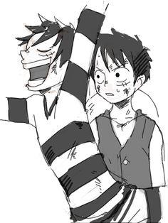Luffy & Bon Clay Luffy -one piece