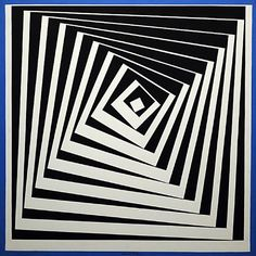 Vásárhelyi Győző, known as Victor Vasarely was an artist who is often regarded as the father of Op Art. He began to study medicine in Hungary, but left the race after two years. Wikipedia--Slide sequence alt to willowisp -conc. Victor Vasarely, Op Art, Grafik Art, Optical Illusion Quilts, Illusion Kunst, Fractal, Art Plastique, Geometric Art, Line Art