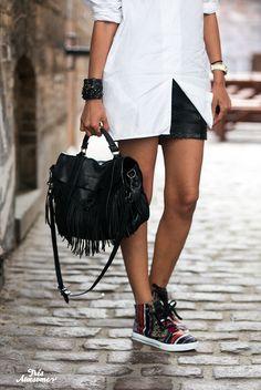 Proenza bag and high tops #proenza #shoes
