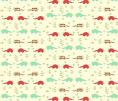 seafoam_and_red_armadillo fabric by holli_zollinger on Spoonflower - custom fabric