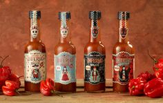 INFERNO chilli Inferno Mic's Chilli Packaging, design & illustration for Mic's Chilli's Inferno range of hot sauces. By Steve Simpson Graphic Design Branding, Stationery Design, Label Design, Package Design, Spices Packaging, Pretty Packaging, Packaging Ideas, Salsa Picante, Packaging Design Inspiration