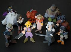 The PlayStation's polygonal models of Final Fantasy VII's colorful cast are perfect for 3D printing. Artist Joaquin Baldwin has just created a set of playable characters using 3D printing.