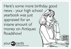Here's some more birthday good news - your high school yearbook was just appraised for an insane amount of money on Antiques Roadshow!