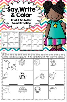 Great print & go practice for letter sounds.