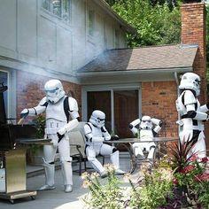 #starwars #stormtrooper #barbeque