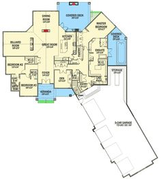 Mountain House Plan with 5 Car Garage - 81688AB   1st Floor Master Suite, Butler Walk-in Pantry, CAD Available, Den-Office-Library-Study, Jack & Jill Bath, Luxury, Media-Game-Home Theater, Mountain, Northwest, PDF, Split Bedrooms   Architectural Designs