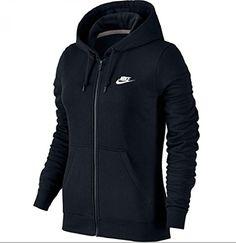 Nike Women Full Zip Fleece Hoodie (Small, Black) Nike…