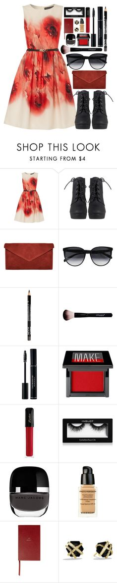 """""""Classic Chic"""" by business-casual ❤ liked on Polyvore featuring Little Mistress, CÉLINE, Make, Guerlain, Inglot, Marc Jacobs, Givenchy, Smythson and David Yurman"""
